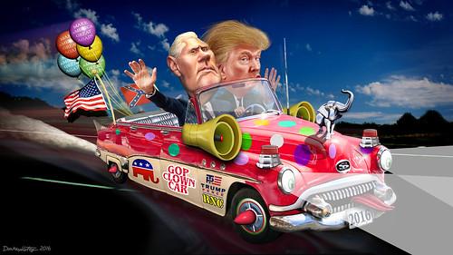 Trump-Pence Clown Car
