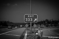 333 (999theo999) Tags: pictures road blackandwhite black sign photography amazing cool highway sony evil going down dot half 333 alpha today ontheroad ontheside oeht oehtpictures
