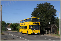 A15 NFC, Kizzle (Jason 87030) Tags: a15 stop a15nfc countrylion school bus children kids kizzle kislingbury billage road bugbrooke campion northants northamptonshire 2016 july morning independant operator yellow decker volvo citybus education lamp trees color colour wheels