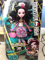 So picked up Shriekwrecked Draculaura from TRU in Tennessee today. I plan on getting this whole line, but I wanted to get Rochelle, Catrine, & Lagoona first....but the weird thing is...my TRU here had some weird stock. This was the only reboot item there (Venus_Forever) Tags: shriekwrecked draculaura reboot 2016 mattel new doll dolls high monster