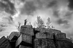 Holding on eachother (Mikko Vuorinen) Tags: meviart mikkovuorinen wedding weddings finland rock cliff clouds dramatic bride groom portrait nature nikon d5100 sigma 1770 f2840 strom summer holding tight together top peak