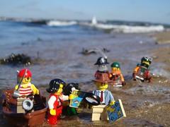 wet feet (captain_joe) Tags: toy spielzeug 365toyproject lego minifigure minifig pirat pirate cutlass strand beach wasser water kiel hasselfelde