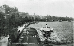 Victoria Embankment (Leonard Bentley) Tags: victoriaembankment waterloobridge riverthames charingcrosspier londoncountycouncil riverboatservice nationalseries postcard millarlang glasgow napiermiller henryfitzailwin firstmayoroflondon fitzailwin paddlesteamer citysteamboatcompany waroffice royalindianmarine rivertigris mesopotamia indianarmy turks ottomanempire abdulalkhedery aziziah london uk 1905 1906 1909 1914 1916 1920 hotelcecil cleopatrasneedle somersethouse baghdad