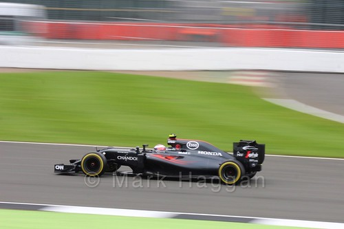 Jenson Button in his McLaren qualifying for the 2016 British Grand Prix