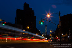Traffic Light Trails in The West Village, New York