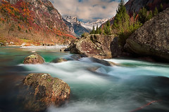 [ flow ] (Ennio Pozzetti) Tags: longexposure travel autumn italy snow mountains water colors river rocks stream italia mood it peaks valtellina disgrazia valdimello ethernity enniopozzetti