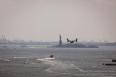 Statue of Liberty - seen from the Brooklyn Bridge, New York