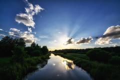 Sunset over Hornbk Meadows (Jim Skovrider) Tags: sunset sky nature water denmark nikon tokina fullframe danmark ultrawide d800 guden colorefexpro niksoftware nikond800 nikonfx atx116prodx nrre nikonfxshowcase 1116f28lens