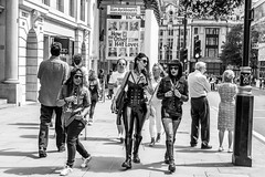 How the Other Half Loves (Silver Machine) Tags: london prideinlondon lgbtpride2016 streetphotography street candid people women pvc leather leatherjacket sunglasses vaping alanayckbourn howtheotherhalfloves fujifilm fujifilmxt10 fujinonxf35mmf2rwr
