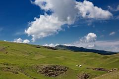 nomad's yurt (monorail_kz) Tags: kazakhstan almatyregion dzungarianalatau dzungaria highlands plateau alatau sky clouds blue green pasture grass summer june