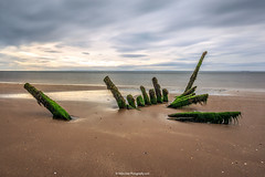 Longniddry Shipwreck (MilesGrayPhotography (AnimalsBeforeHumans)) Tags: ocean uk longexposure sea sky seascape beach canon landscape outdoors photography eos scotland edinburgh europe ship britain w wide shipwreck nd ef firthofforth waterscape 6d eastlothian 1635 f4l nd1000 canonef1635mmf4lisusm canon6d longniddrybeach 10stopper