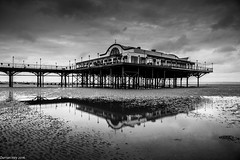 Pier At The Reflection! (dazzbo1) Tags: cleethorpes lincolnshire beach reflection sand cloud weather miserable low tide rain overcast cloudy storm landscape deserted