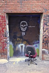 The Artist's Chair (ricko) Tags: chair empty streetart alley marketsquare knoxville tennessee door