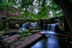_DSC6607 (ALGISZ) Tags: water mill old abandoned waterfall dark light silky