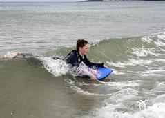 Emma catching a wave (Lisangel) Tags: bendhu holiday summer ulster nikon d7000 beach strand portstewart sea surf surfing boogieboard board