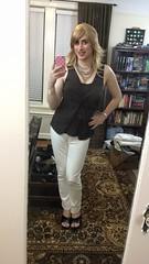 Blonde in White Jeans (SecretJess) Tags: crossdress cd crossdresser lgbt genderfluid gurl girly tgirl trans transvestite tg femme girls casual bigender girlslikeus