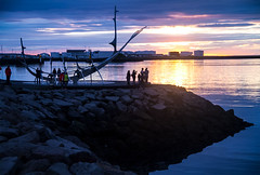 Sun voyager (S_E_Santana) Tags: reykjavik sunvoyager iceland sea midnightsun outdoor bay viking solfar rnason
