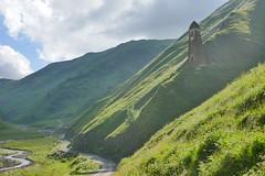 the first stone watchtower on the way to shatili village (eikzilla) Tags: georgia europe georgien  shatili caucasus watchtower