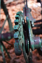 An old gear for a wagon (Hunter Donahue) Tags: old gears green cogs