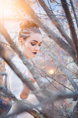 (ingrid.schnelle) Tags: canon eos 5d mark ii ef100mm f28l macro is usm workshop fashion portrait profile picture photo photograph sunset model girl woman light magic amazing evening oslo norway norge pholk bokeh depth field dof forrest woods sun outdoors naturallight