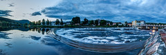 Tor Magnus Anfinsen-000130 in Explore Sep 1, 2016 #127Added (Tor Magnus Anfinsen) Tags: panorama hdr norge norway laagen river water reflection kongsberg nikon blue tree city