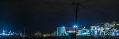 3rd shift processing restarts (pbo31) Tags: california eastbay alamedacounty bayarea nikon d810 color september 2016 summer boury pbo31 night black dark morton salt company newark plant processing industrial work food