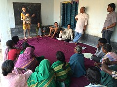 Permaculture workshop in village