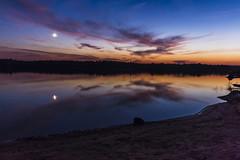 Autumn moonlight (olsonj) Tags: autumn moon lake fall up night michigan bondfalls