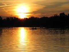 Golden Fishing Evening On Cooley Lake (JKissnHug - Getting Back to Birding & Photography) Tags: sunset summer sun lake water golden michigan 2015 oaklandcounty commercetwp cooleylake