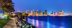 Prime San Diego Skyline (Matt Valeriote) Tags: hdr night san diego skyline city cityscape lights ocean water panorama