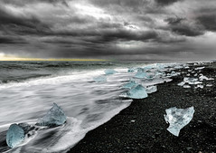 Ice Beach - Jokulsarlon, Iceland (cristiancoser) Tags: iceland beach ice landscape cloudy travel travelphotography amazing waves