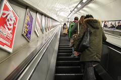 Probably Hyde Park Corner Station (Can Pac Swire) Tags: aimg0757 metro tube underground subway station escalator hydeparkcorner perspective london england uk great britain british english unitedkingdom sw1 poster posters shot image photo