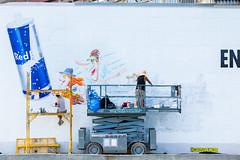 Red Bull (Always Hand Paint) Tags: advertising mural colorful outdoor beverage progress ooh handpaint colossal streetlevel wallscape gowanas b180 colossalmedia redbulll muraladvertising skyhighmurals alwayshandpaint kristalindahl redbullprogress