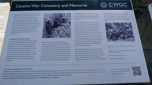 Monte Cassino - the Commonwealth War Cemetery, info board