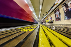 Waterloo Underground Station, London, UK (davidgutierrez.co.uk) Tags: london architecture art city photography interior davidgutierrezphotography nikond810 nikon urban travel people color londonphotographer photographer londonunderground abstract train uk platform tfl transportforlondontfl transport tube waterloo waterlootubestation waterlooundergroundstation ultrawideangle afsnikkor1424mmf28ged 1424mm londonboroughoflambeth undergroundstation underground colours colour red tubestation station colors colourful street public buildings lights centrallondon england unitedkingdom  londyn    londres londra europe beautiful cityscape davidgutierrez capital structure britain greatbritain light streets d810 sign londonundergroundsigns person arts vivid vibrant southbank bokeh lowview