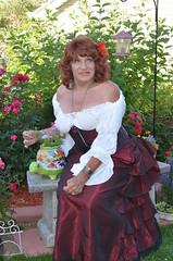 Just Your Garden Variety Wench (Laurette Victoria) Tags: garden auburn skirt blouse shoulders wench laurette