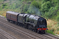 Overpowered (Treflyn) Tags: stanier princess coronation class 462 pacific 46233 duchessofsutherland support coach bishops lydeard southall sonning cutting