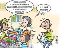 Cantidad de libros (Caricaturascristian) Tags: quebrados enteros libros editoras abuso negocio colegio comisin educacin