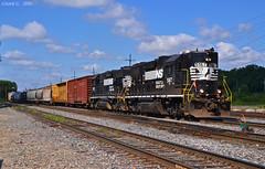 "Eastbound Transfer in Kansas City, MO (""Righteous"" Grant G.) Tags: ns norfolk southern railway railroad locomotive train trains east eastbound high hood emd power transfer kansas city missouri"