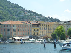 "Approaching Como on the hydrofoil boat ""Citta di Como"" - boats - view of Piazza Cavour (ell brown) Tags: trees italy mountain como mountains tree boats restaurant boat italia monte lakecomo lombardia souvenirshop lagodicomo lombardy piazzacavour emporioarmani cocktailbar tabacchi italianlakedistrict hydrofoilboat cittadicomo cityofcomo piazzacamillobensocontedicavour bartouringcaffe"