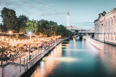 Strandbar Mitte | Berlin, Germany 2016 (philippdase) Tags: berlin summer2016 nikond7100 nikon sigma formatthitech nd6 spreeriver strandbarmitte longexposure water fernsehturmberlin bodemuseum philippdase nightlife city germany