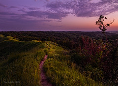After Dark Hike     (explored) (jackalope22) Tags: sunset trail long exposure tones lighting loess hills ia