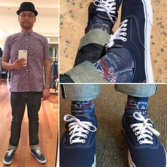 Outfit 20160725 (Freddie Avalos) Tags: outfit clothes socks vans shoes hat gustinjeans