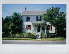 18th century house (BehindBlueEyes) Tags: nj newjersey hightstown mercercounty traskavenue film fujiinstax210 americana house instantnj