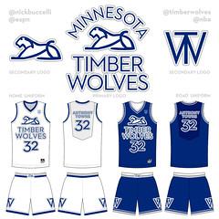 Nick_Buccelli_TimberWolves_UniWatch (nbuccelli) Tags: nba basketball minnesota timberwolves wolves logo design