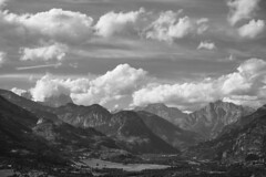 Alpes du Sud / Southern Alps -3- (CTfoto2013) Tags: lumix panasonic mirrorlesscamera micro43 landscape paysage hazy mood ambiance atmosphere trees arbres alpes montagnes ecrins durance montdauphin vallee valley mountains clouds nuages noiretblanc bw nb blancoynegro ciel sky parcdesecrins montagne alps hautesalpes france paca 05 blackandwhite monochrome outdoor cloud europe nature sommets hights snow neige serene peaceful serein bucolique