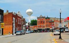 Warren, Illinois (Cragin Spring) Tags: watertower mainstreet smalltown northernillinois warren warrenil warrenillinois illinois midwest building usa jodaviesscounty