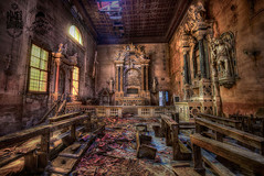 Worship to degradation (Cristian_TonBeaT) Tags: abandoned derelict explore empty destroyed urbex urban exploration decay decayed broken rust old deserted creepy placessuffering village ngc indoor art beautiful beauty dark dead death life light outdoor factory canon architecture alley column italy italia church religion