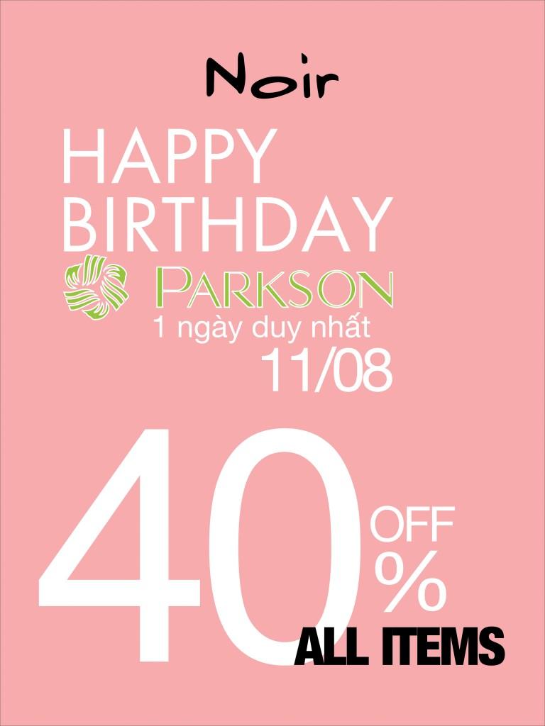 HAPPY BIRTHDAY LẦN THỨ 11 TẠI CÁC TRUNG TÂM THƯƠNG MẠI PARKSON.