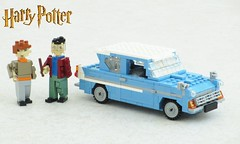 Harry Potter Ford Anglia (updated) (Mad physicist) Tags: lego british ford anglia harrypotter car 122